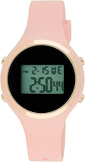 Moulin Ladies Pastel Color Digital Jelly Watch Pink #03158-76626