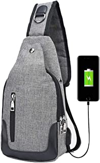 AINIYF Travel Outdoors Backpack Chest Shoulder Backpack Crossbody Purse with USB Charging Port for Hiking Cycling Camping ...