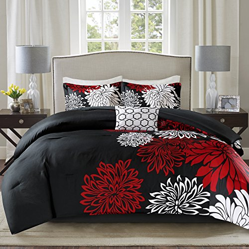 Comfort Spaces Enya Comforter Set-Modern Floral Design All Season Down...