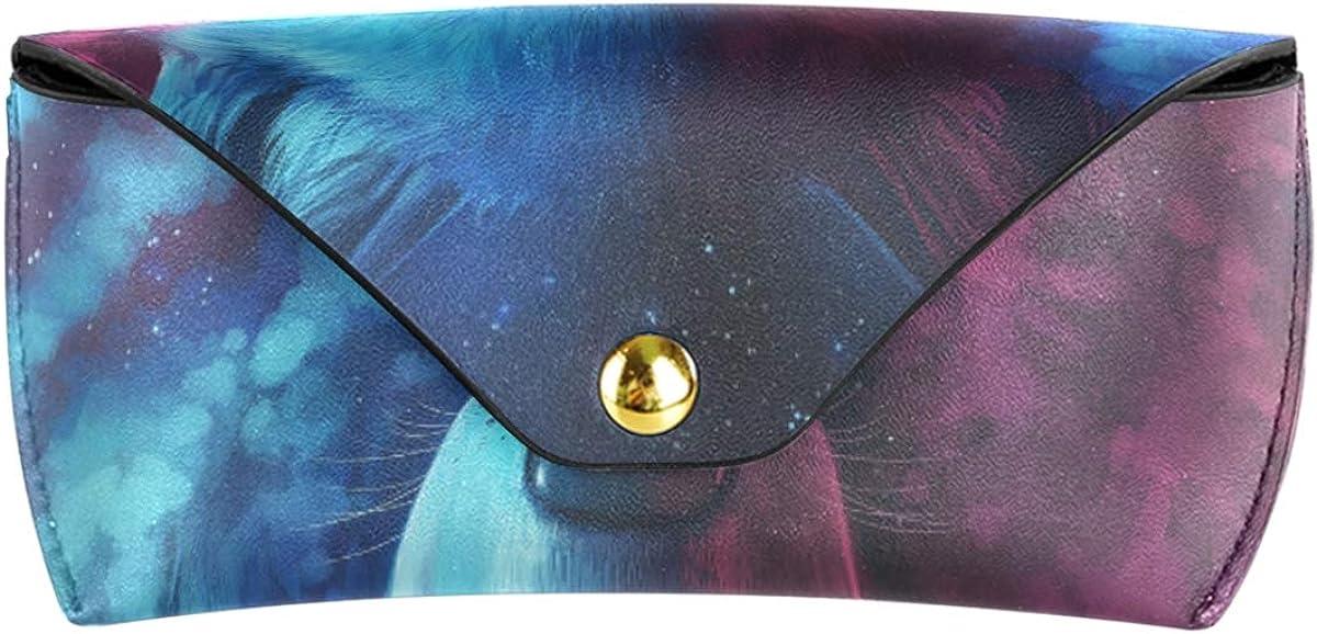 Multiuse Starry Sky Nebula Animal Wolf Goggles Bag Sunglasses Case Eyeglasses Pouch Travel PU Leather Portable