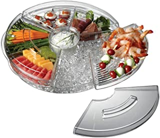 "Prodyne Appetizers On Ice with Lids, 16"", Clear"
