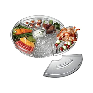Prodyne Appetizers On Ice with Lids, 16 , Clear