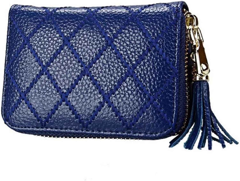 ZhiGe Women's Wallet,Leather Organ Card Set Lady Zipper 0 Wallet 11.1  3.5  7.9CM