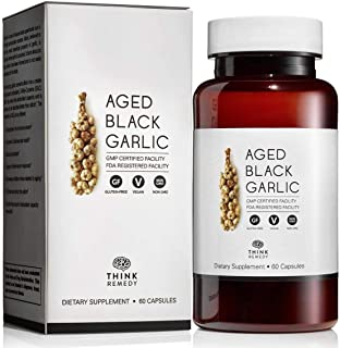 Best Aged Black Garlic Capsules - Garlic Pills for Cholesterol Support - Less Odor - Potent Antioxidant - 60 Capsules - Allium Sativum Supplement - More Effective Than Allicin Review