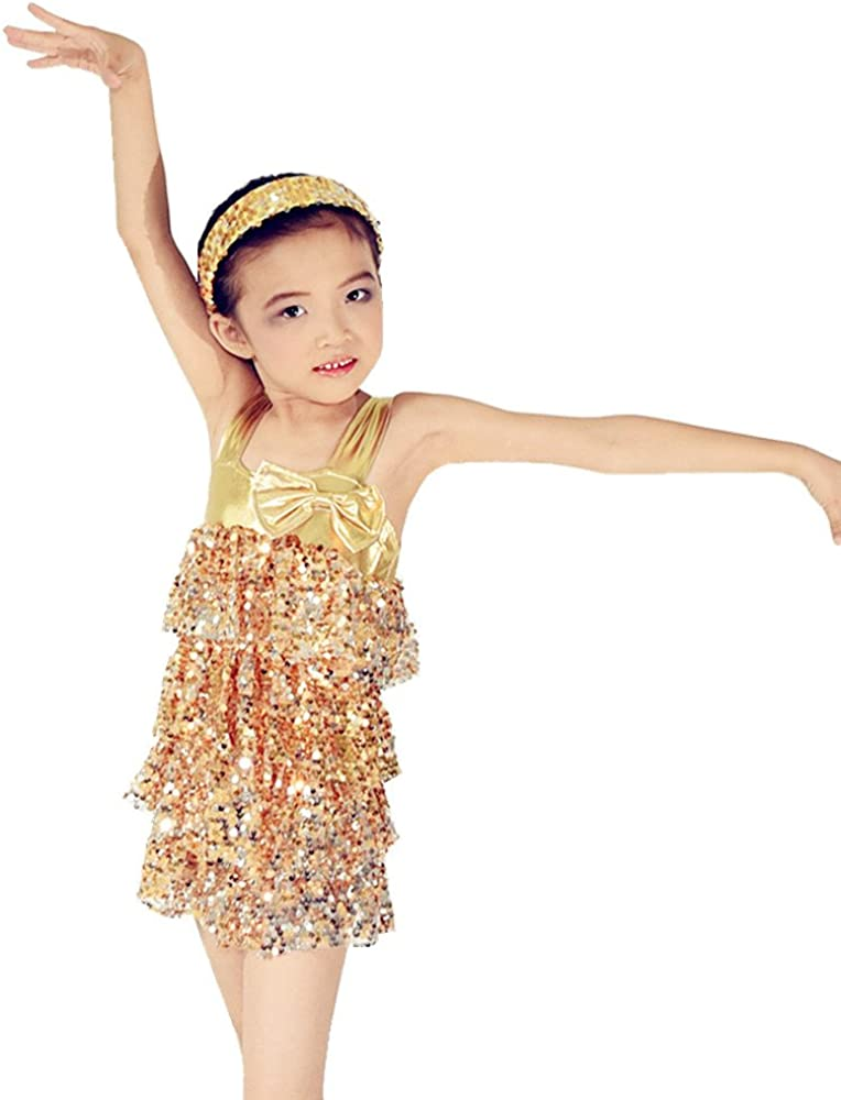 MiDee Latin Max 55% OFF Dance Max 45% OFF Costume Dress Sequined Skirt Camisole Tiered f