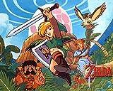 Luyshts Rompecabezas de 1000 Mini Puzzles de Póster La Leyenda de Zelda: Aliento de lo Salvaje niños Adultos Juego Rompecabezas educativos Juegos
