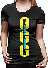 CarolJenkins Boxing King GGG Camiseta de Manga Corta para Mujer Camisetas Sport Summer
