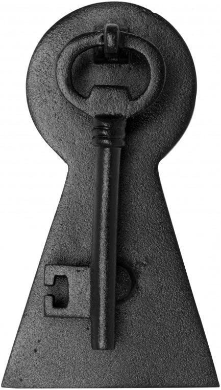 Door Knocker Black Cast Iron Key 6