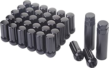 HanAuto Black Lug Nuts with 2 KEY (9/16-18 Thread Size) - Pack of 32 Wheel Lug nuts,751916K322