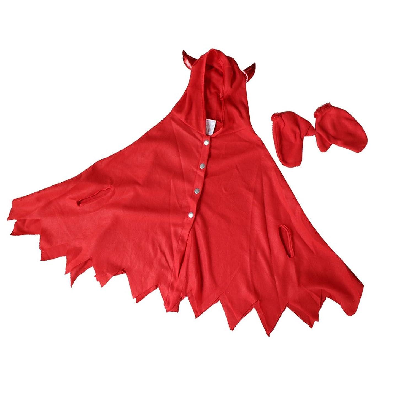 制限省略ローブBaosity ハロウィーン 仮装 子供着用 クローク 手袋 赤い悪魔 雰囲気作り コスチューム お祭り パーティー