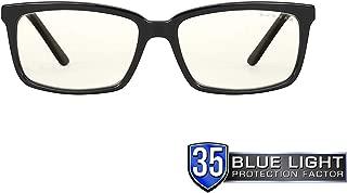 Gunnar Optiks Haus 电脑眼镜,带液体镜片 - 蓝色光、防眩光、*小化数字眼部应变,玛瑙 (HAU-00109)