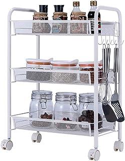 Dxbqm Organisateur de Stockage Rangement de Cuisine, Support de Stockage de ménage, Organisateur de Salle de Bain, Chariot...