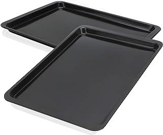 Baking Sheet 10x14 Inch, Beasea 2 Pack Cookie Sheet Set Nonstick Carbon Steel Oven Baking Pans Sheet Pans Baking Tray Rimm...