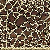 ABAKUHAUS Sambia Gewebe als Meterware, Giraffe-Haut-Muster,
