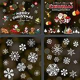 ZoneYan Adesivi Natale per finestre,Natale Vetrofanie Rimovibile Adesivi Murali Fai da Te Finestra Decorazione Vetrina Wallpaper Adesivi