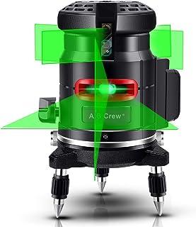 A.B Crew 360°Self Leveling Laser Level Green Beam 5 Lines 6 Points Laser Level Horizontal/Vertical Cross Line Straight/Til...