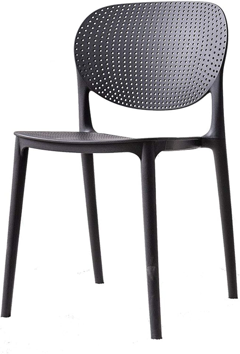 Plastic Chair Modern Minimalist Office Computer Chair Home Lazy Makeup Chair Fashion Padded Backrest Chair (color   Black)