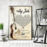 The Beatles – Hey Jude Songtext-Poster – Papierposter