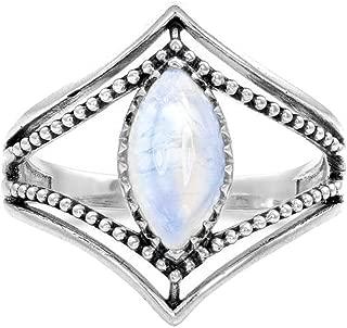 winsopee Women's Wedding Promise Ring Band Retro Charm Engagement Luminous Stone Horse Eye Gem Ring