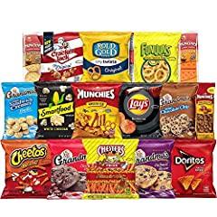 40 count of Your favorite Frito Lay snacks Perfect for any snacking occasion and great as a care Package for a loved one Delight the taste buds of friends, family and coworkers with 40 of their favorite Frito lay snacks The ultimate snack care packag...