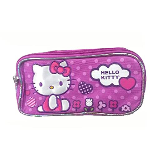 1 X Pencil Case - Hello Kitty - Flowers (Double Zippered Pouch) 5abf3c2c80025