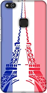 AMZER Slim Fit Handcrafted Designer Printed Snap On Hard Shell Case Back Cover for Huawei P10 Lite - Eiffel Tower- France ...