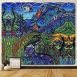Escena psicodélica decoración del hogar tapiz artístico decoración bohemia tapiz Yoga Mat sofá manta A4 100x150cm