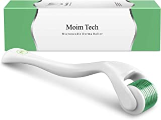Derma Roller, MoimTech Cosmetic Microneedle Instrument For Face and Body with 540 Titanium Micro Needle 0.3mm - Includes Storage Case
