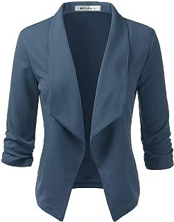 ELF FASHION Women Lightweight Cotton Hoodie Casual Long Sleeve Zip-Up Jacket W/Kangaroo Pocket (Size S~3XL)
