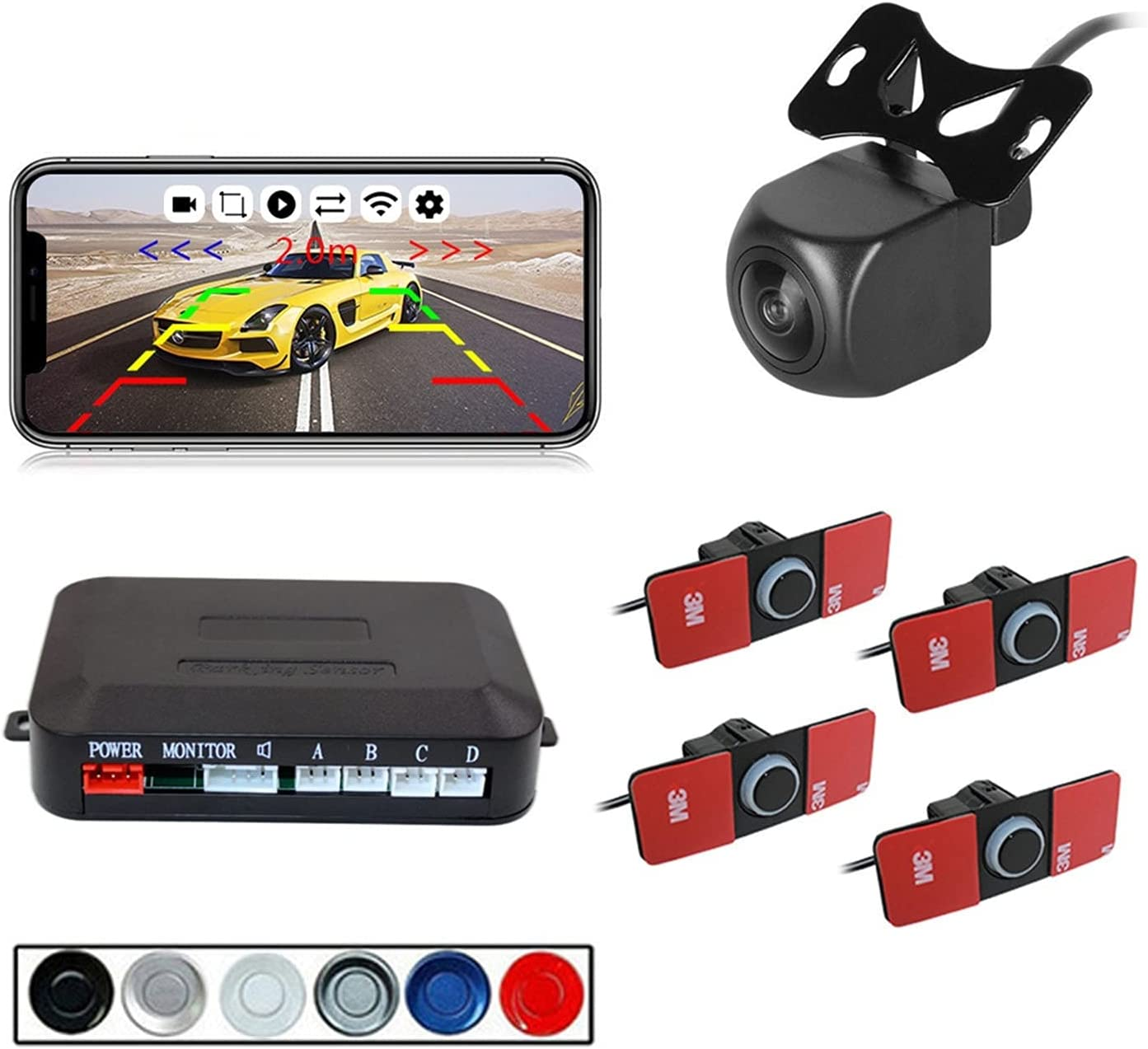 YXZQ Same day shipping Handheld GPS Max 51% OFF Detector 12V 16.5mm Sensor Parking Probe Car 4