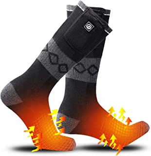 SUNWILL Heated Socks for Men Women,7.4V 2200mah Electric Rechargeable Battery Warm Winter Socks,Cold Weather Thermal Heating Socks Foot Warmers for Hunting Skiing Camping