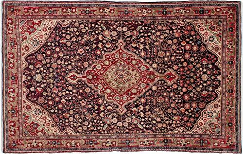 Lifetex.eu Hochwertiger Orientteppich Malayer-Muster (ca. 125x200 cm) Klassisch handgeknüpft Schurwolle Rot Teppich
