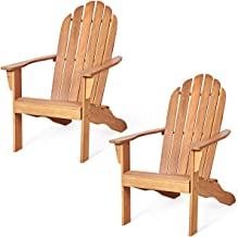 Giantex Adirondack Chair Outdoor Wooden W/Ergonomic Design Acacia Chair for Yard, Patio, Garden, Poolside and Balcony Adir...