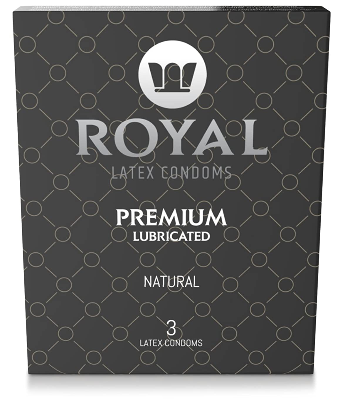 Royal Ultra Thin Condoms - Premium Lubricated, All Natural, Organic, Vegan, High Quality Non-Toxic, Cruelty Free, Odor Free Latex for Long Lasting Extended Pleasure and Performance, 3 Pack