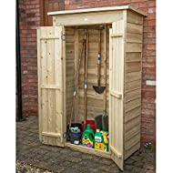 Perfect for the storage of long handled gardening tools, folding furniture and outdoor equipment. Approximately 750 litre capacity Double doors have hidden hinges for additional security The clever design means the roof can be positioned sloping forw...
