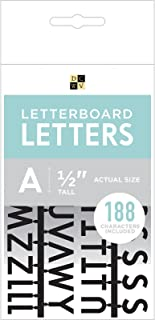 """DCWVE Die Cuts with A View 1/2"""" Letter Pack Letterboard-Black (188 pcs) 609100"""