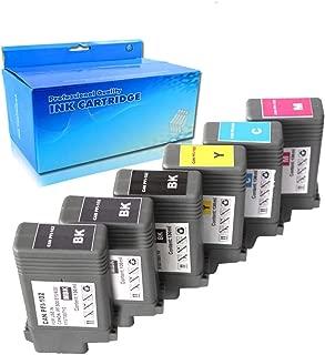 Karl Aiken 6PK Compatible Ink Cartridge Replacement for Canon PFI-102 130ml imagePROGRAF iPF500 iPF510 iPF600 iPF605 iPF610 iPF650 iPF655 iPF700 iPF710 iPF720 iPF750 iPF755 (6PK(2MBK 1BK 1C 1M 1Y))