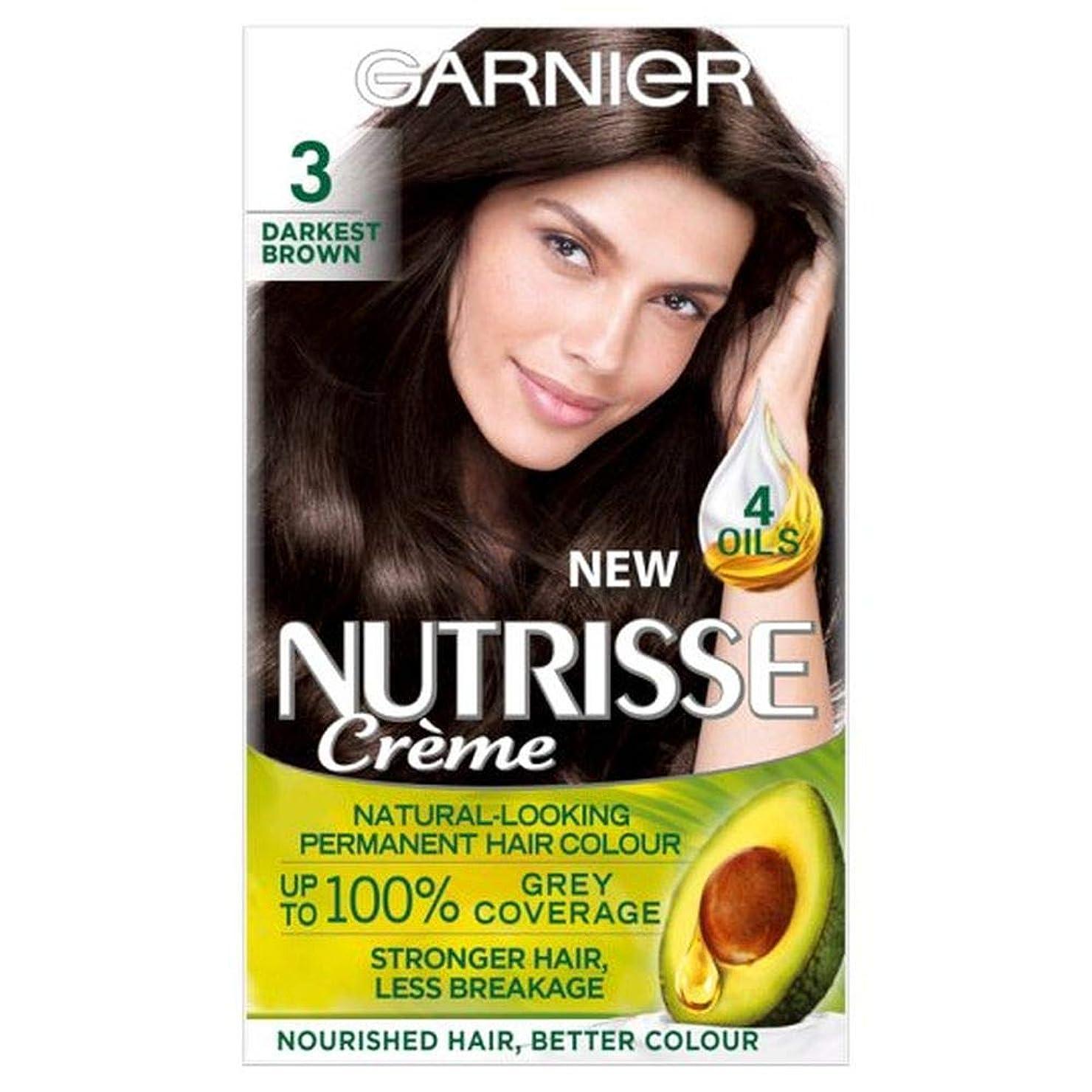 散らす呼吸寛大さ[Nutrisse] ガルニエNutrisse最も暗い茶色の永久染毛剤 - Garnier Nutrisse Darkest Brown Permanent Hair Dye [並行輸入品]