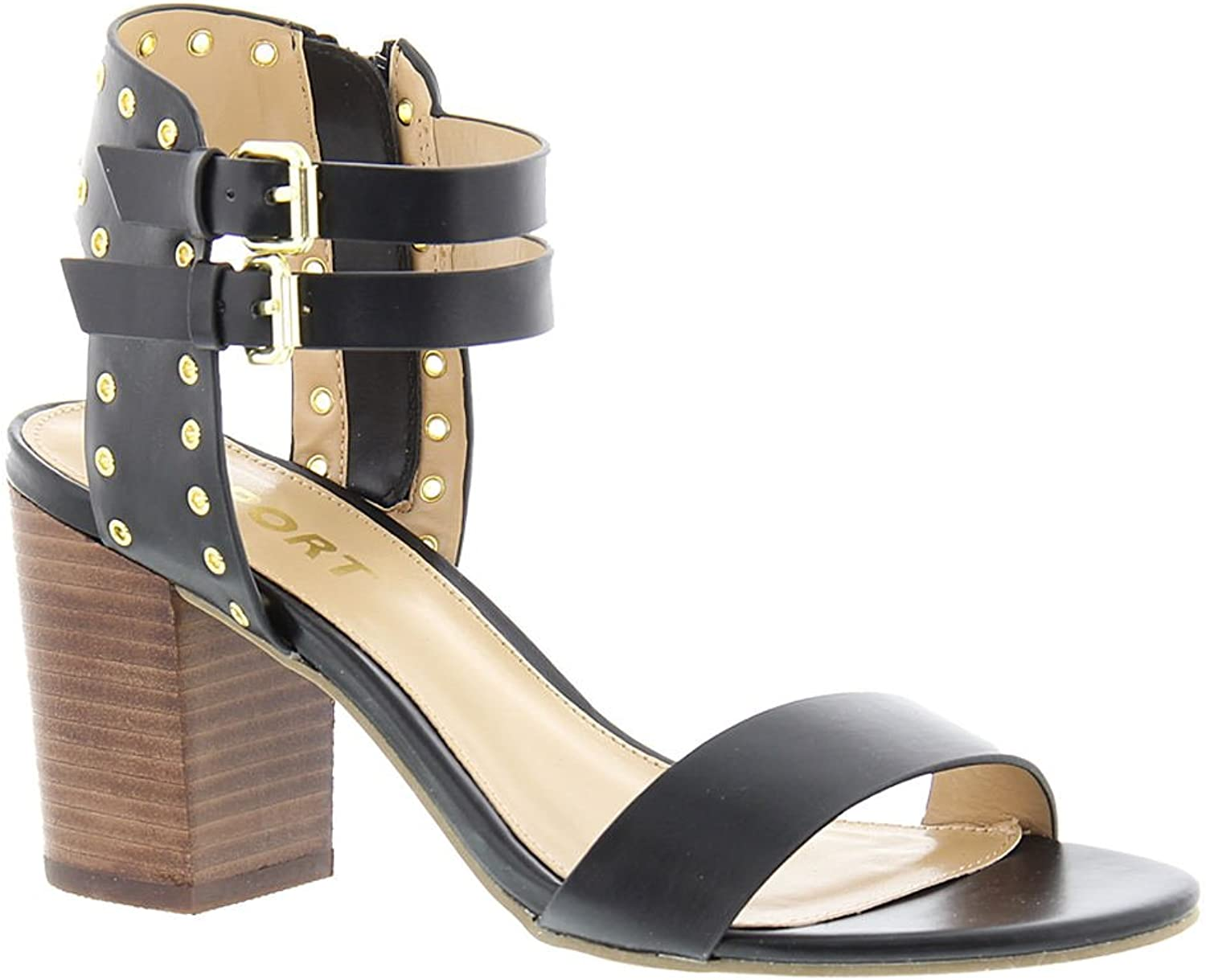 Report Womens Phoebe Open Toe Casual Ankle Strap Sandals