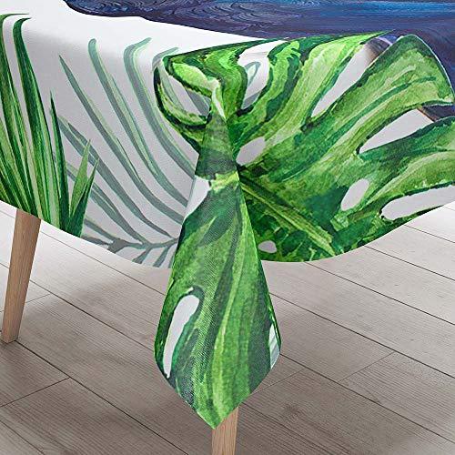 3D Tischdecke Abwaschbar, DOTBUY Wasserabweisende Tischdecke Rechteckig Abwischbare Wachstuch für Desktop Dekorative Tuch Hotel Bankett Party Garten (Tukan,90x90cm)