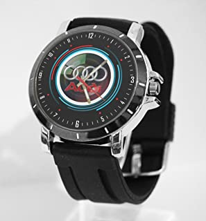 Audi Logo Sport Car Racing Custom Watch Fit Your Bike