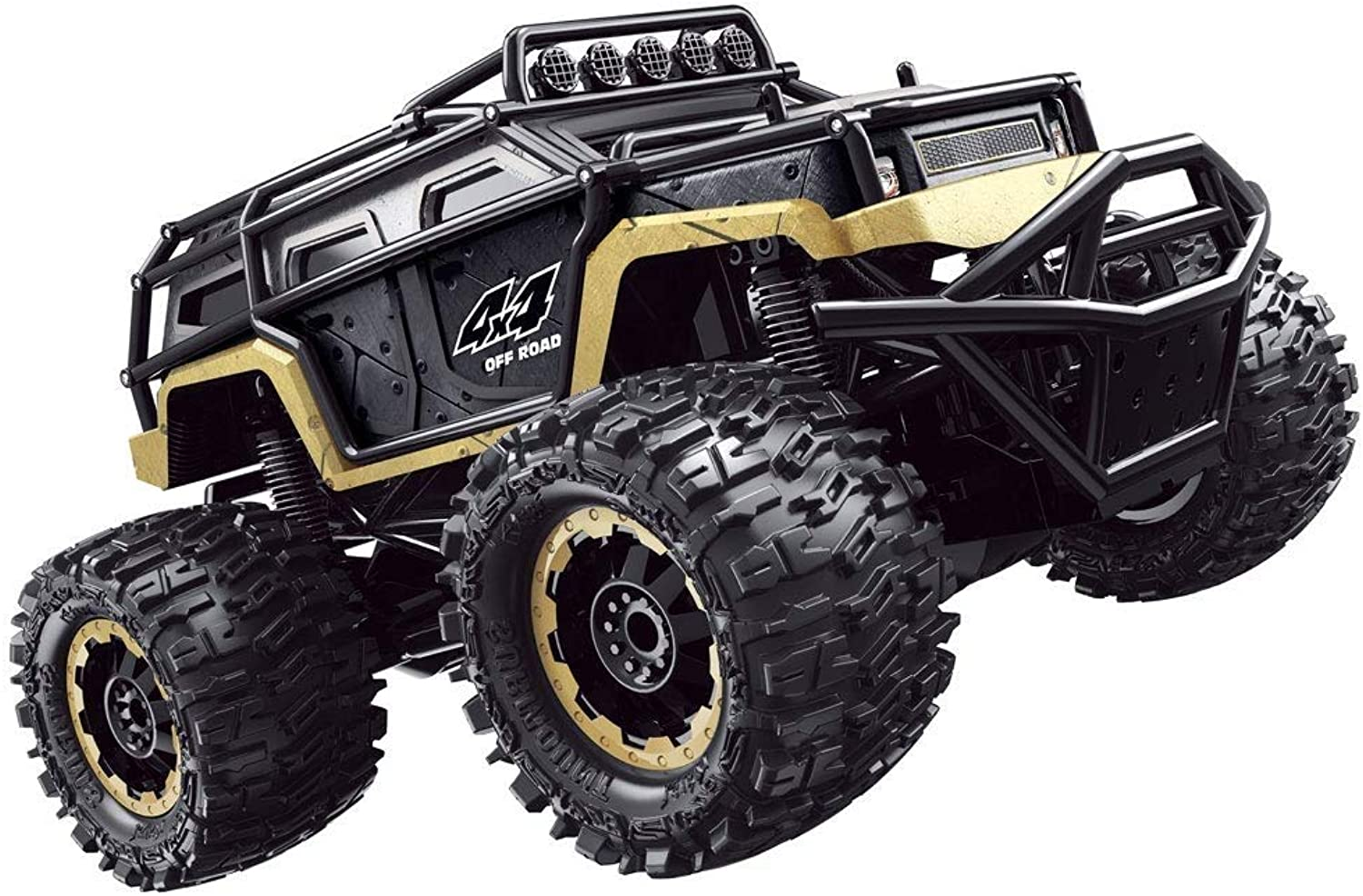 Tritow Oversized Profession Four-wheel Drive Bigfoot RC Car Simulation Beach Chargeable Wireless Trick Remote Control Car Climbing Off-road Mountain Car Boy Girl Gift For Kids 3+ (Size   1 battery)