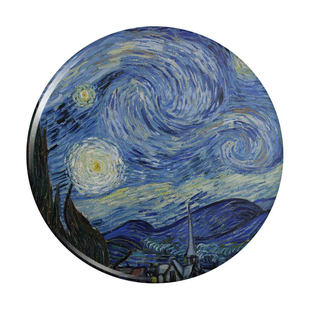 Starry Night by New popularity Vincent van New item Gogh Pocket Purse Hand Compact Cosme