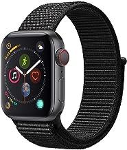 AppleWatch Series4 (GPS+Cellular) con caja de 40mm de aluminio en gris espacial y correa Loop deportiva negra