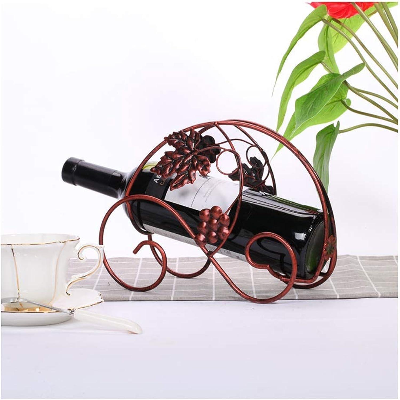 vendiendo bien en todo el mundo ZXL Estante para vinos Creativo Creativo Creativo Europeo de Hierro Forjado, Adecuado para Sala de exhibición Estante de exhibición Cubilete de Regalo (excluyendo Vino Tinto) 0170 (Color  F)  deportes calientes