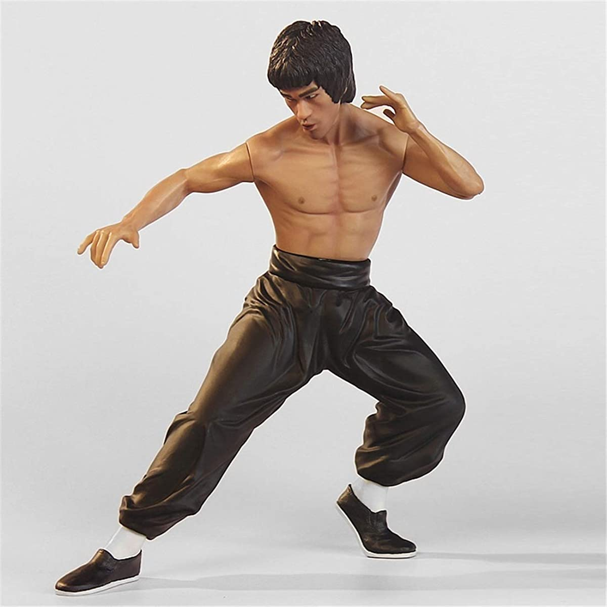 LEOO Bruce Lee Model Toy Doll Chinese Martial Arts Classic Action Hand (Color : Black)