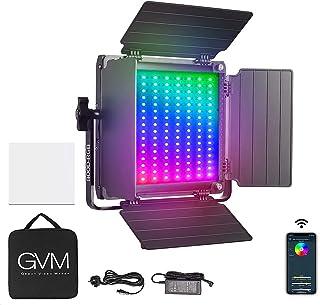 GVM 800D RGB videolamp paneel, app control fotografie LED-licht 3300K-5600k studio-fotografielamp voor studio, YouTube, fo...