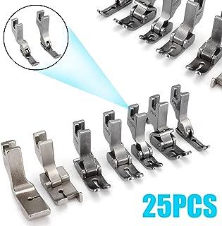 25Pcs Silver Presser Foot Sewing Machine High-Shank Presser Feet Set DIY For JUKI DDL-5550 8500 8700 Industrial Sewing Machine