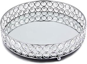 VINCIGANT Mirrored Crystal Vanity Tray Silver