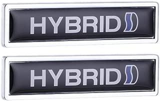 TK-KLZ 2Pcs 3D Metal HYBRID Car Side Fender Rear Trunk Emblem Badge Decals